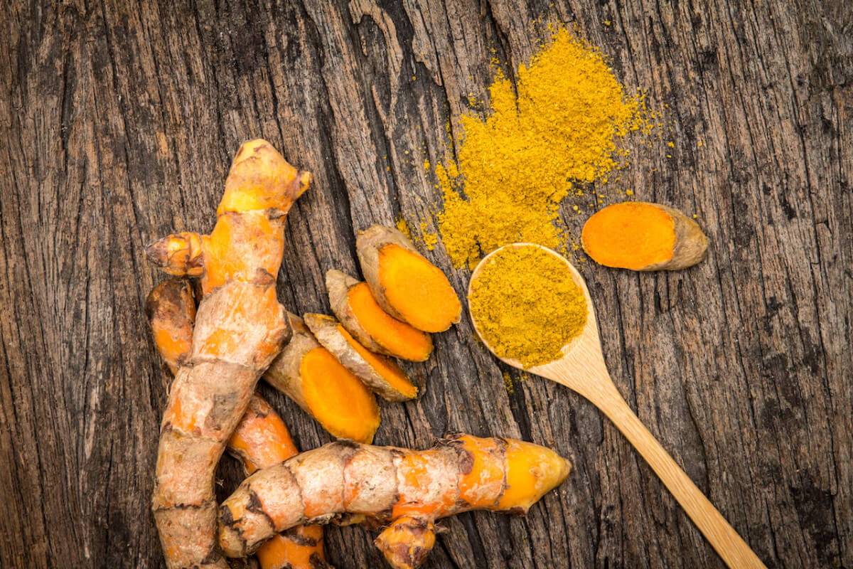 Turmeric root and powder. Image from Spiceography.com
