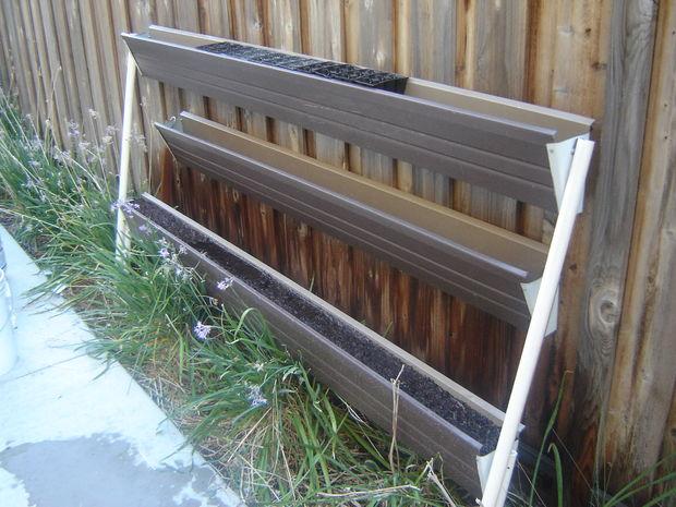 Rain Gutter Gardens Ideas For Growing Vertical Gardensall