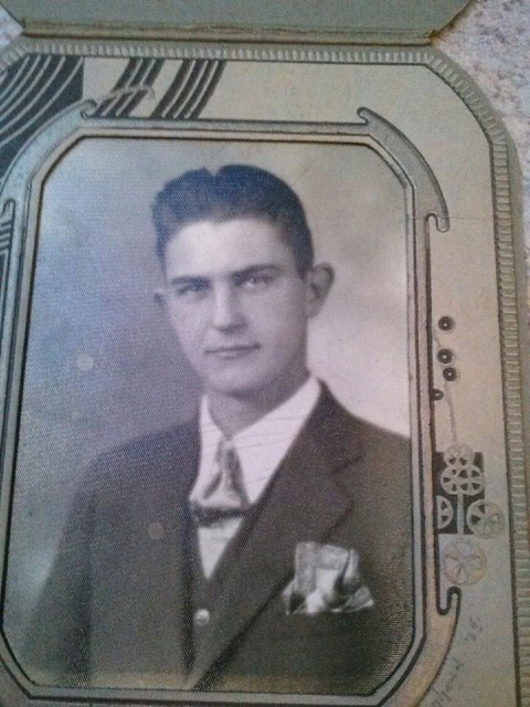 Younger picture of Bryan Wagner's father, Wayne Wagner, 6th generation farmer.